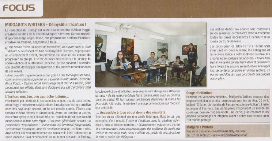 Atelier d'écriture Montpellier Nord
